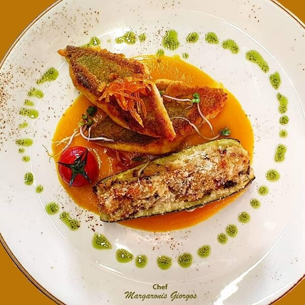 chef margaronis giorgos sea bass