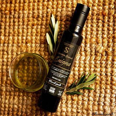 enigma flavored evoo premium oil ελαιόλαδο αρωματικό