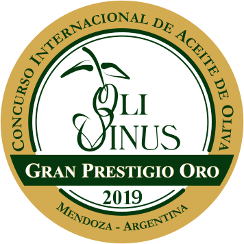 OLIVINUS 2019 OLIVE OIL COMPETITION EVOO GOLD AWARD