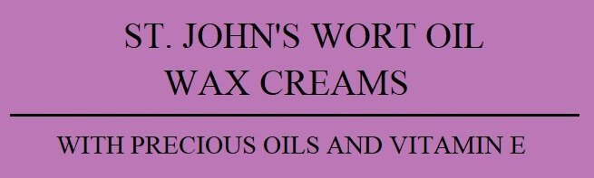 Natural Cosmetics St. John's Wort Oil Wax Creams Balm