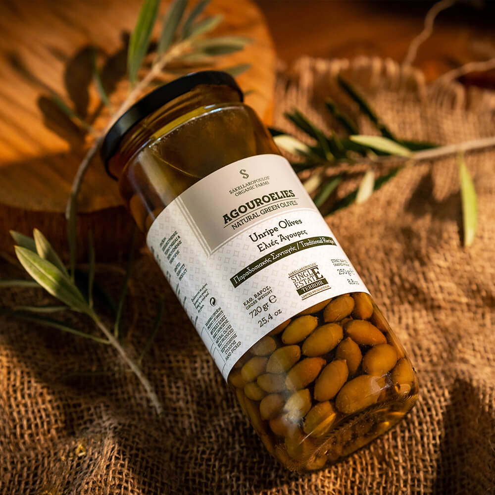 Organic Unripe Olives Kalamata awarded greek traditional green natural