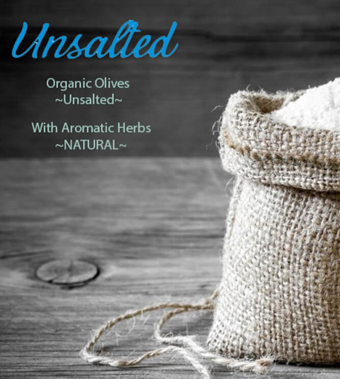 Unsalted Olives Organic Kalamata Natural Low salt herbs