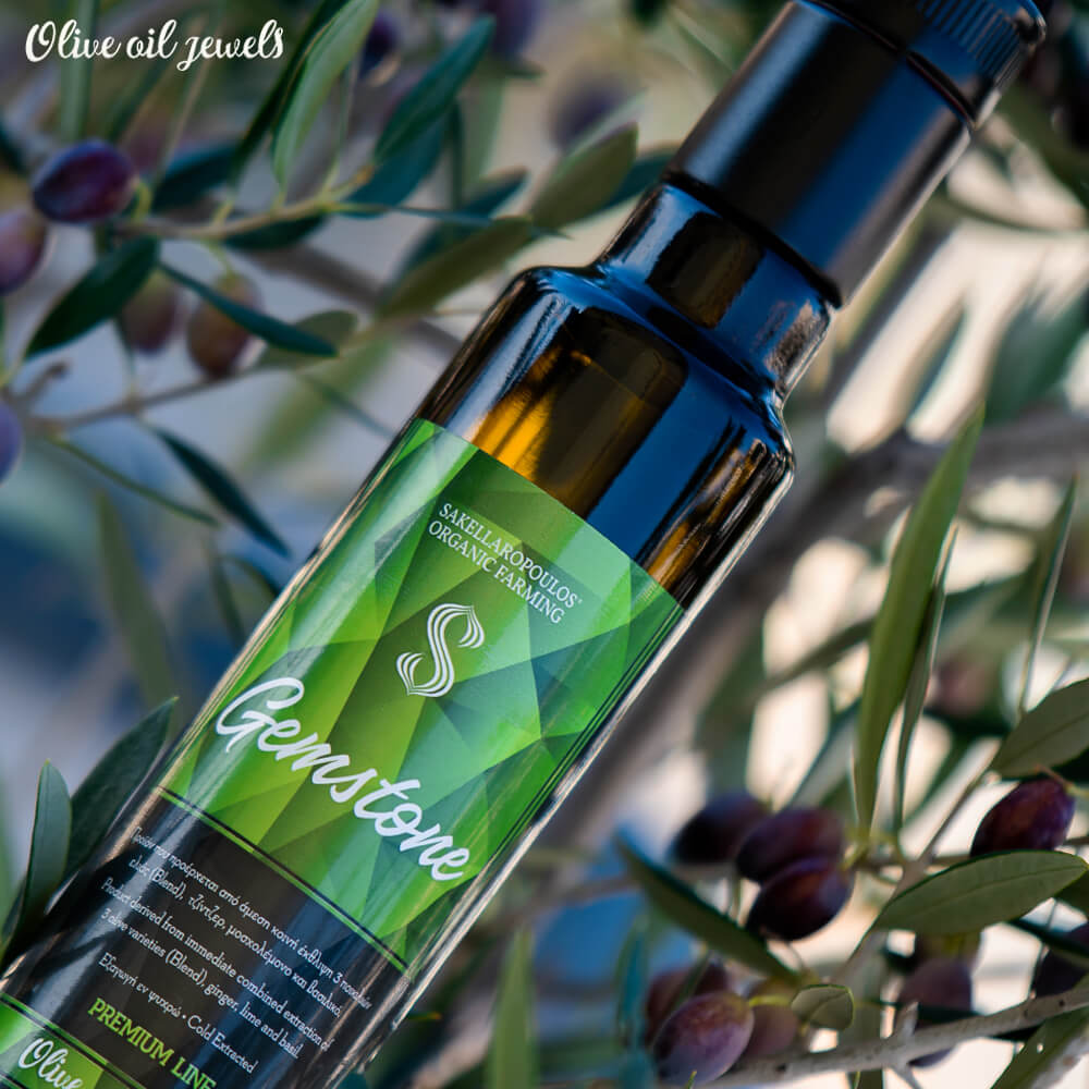 gemstone Premium evoo ginger lime basil flavored best top quality olive oil jewels gourmet