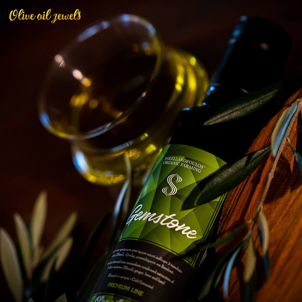 gemstone Premium evoo ginger lime basil flavored best top quality olive oil jewels