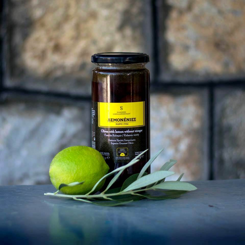 kalamata olives awarded with lemon vinegar phenolic gourmet organic