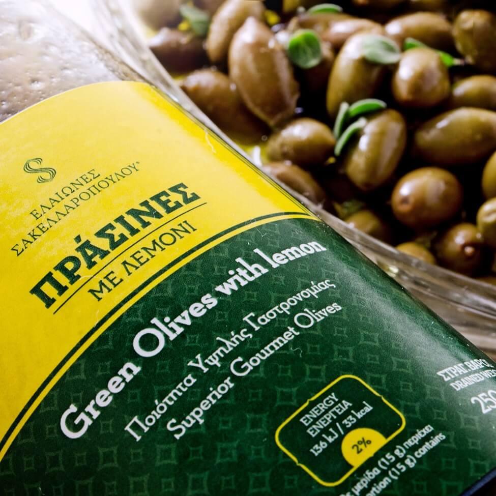 ελιές πράσινες φυσικές gourmet παστερίωση αλάτι βιολογικές