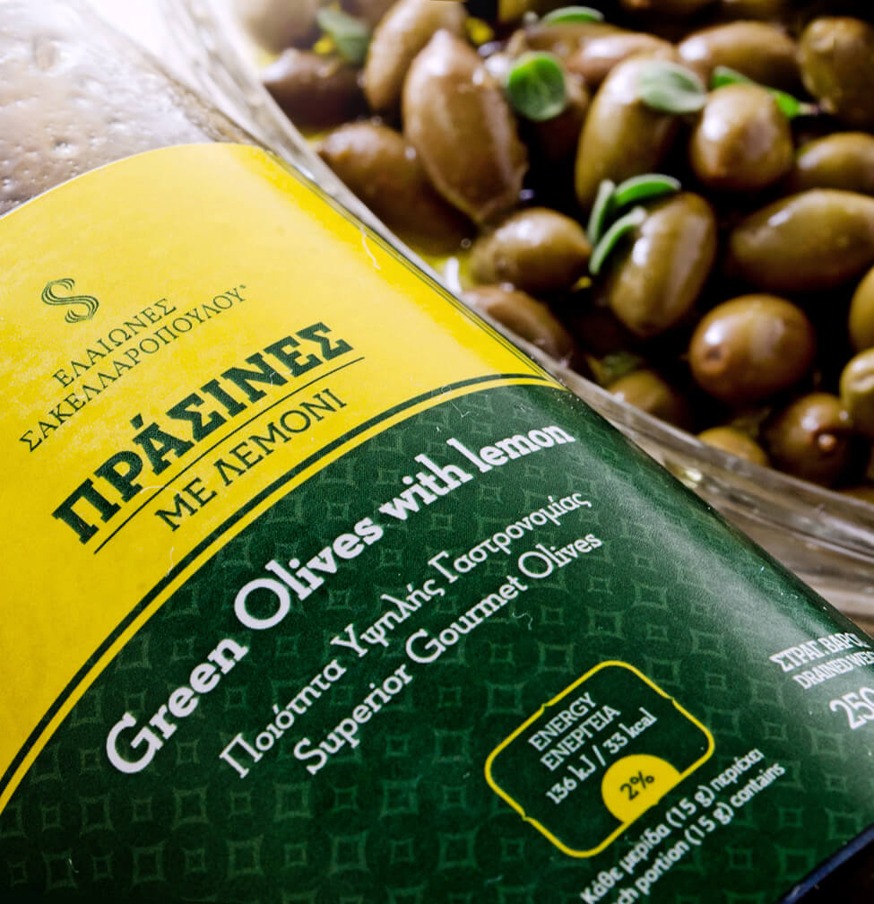 Green olives natural with lemon organic
