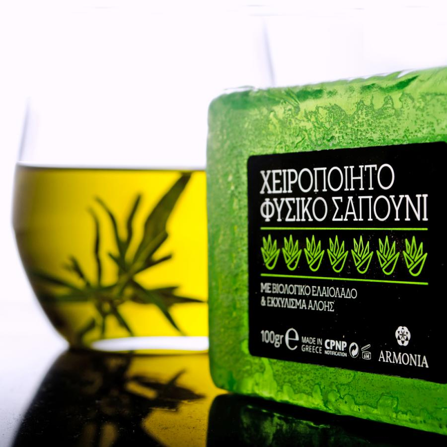 Handmade Natural Soaps with Organic Olive Oil and Extracts Esthique aloe vera