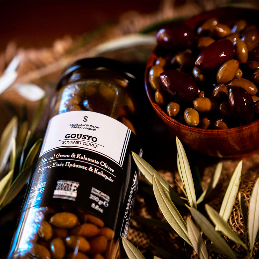 olives black and green gourmet bio gousto greek organic unpasteurized kalamata