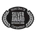 SILVER AWARD AT THE NEW YORK INTERNATIONAL OLIVE OIL COMPETITION NYIOOC 2018 - FYLLIKON organic first harvest olive oil
