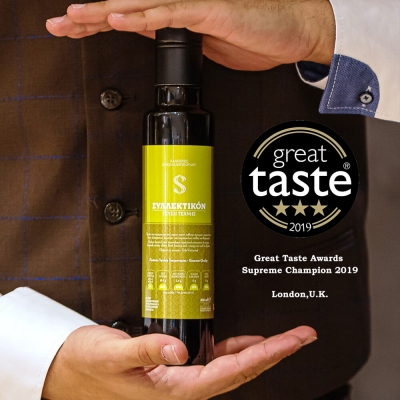 Three Golden Stars for Syllektikon - Outstanding distinction for a Greek olive oil at Great Taste Awards 2019